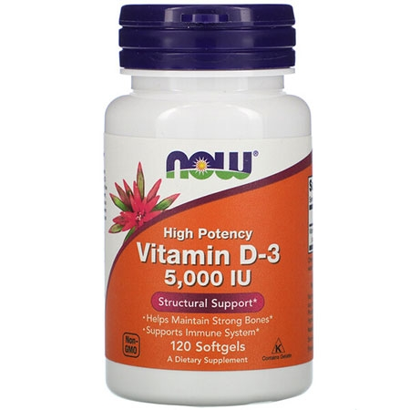 NOW Vitamin D3 5000 120 капсул