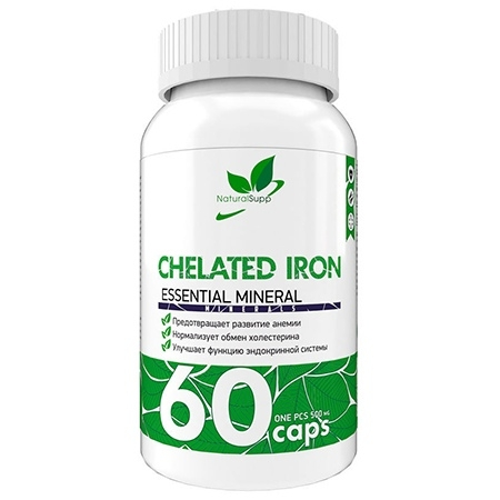 NaturalSupp Chelated Iron 60 капсул