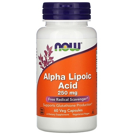 NOW Alpha Lipoic Acid 250мг 60капсул