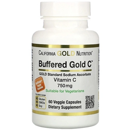 California Gold Nutrition Buffered Gold C 60 капсул